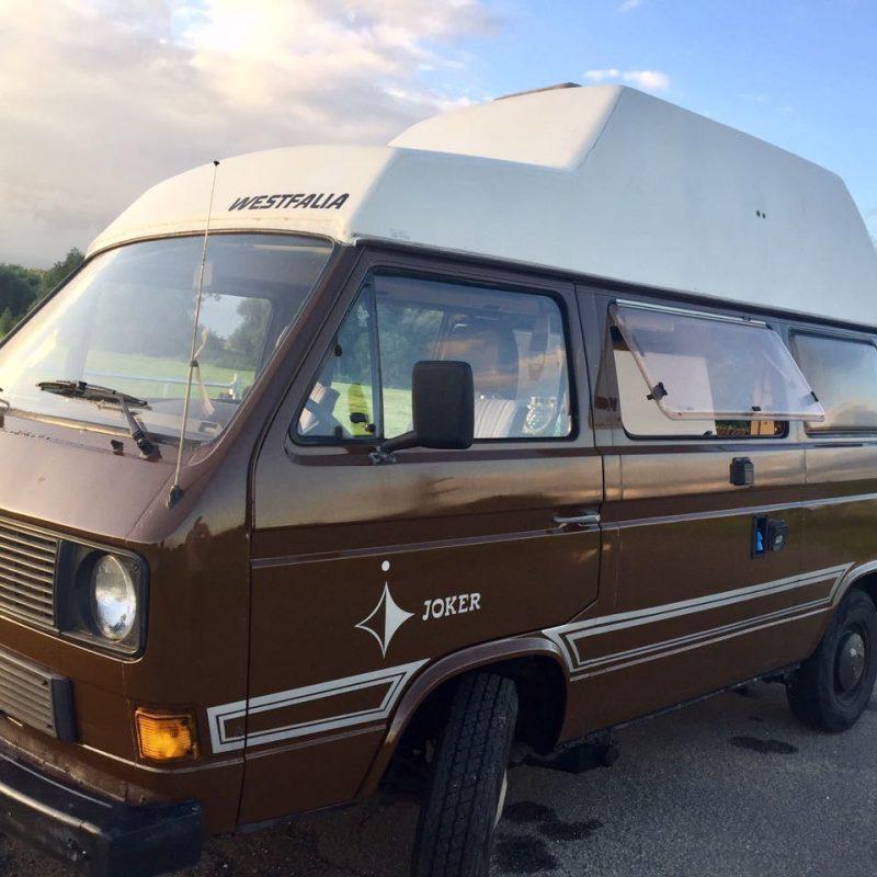VW Bus T3 braun Jolly old honk